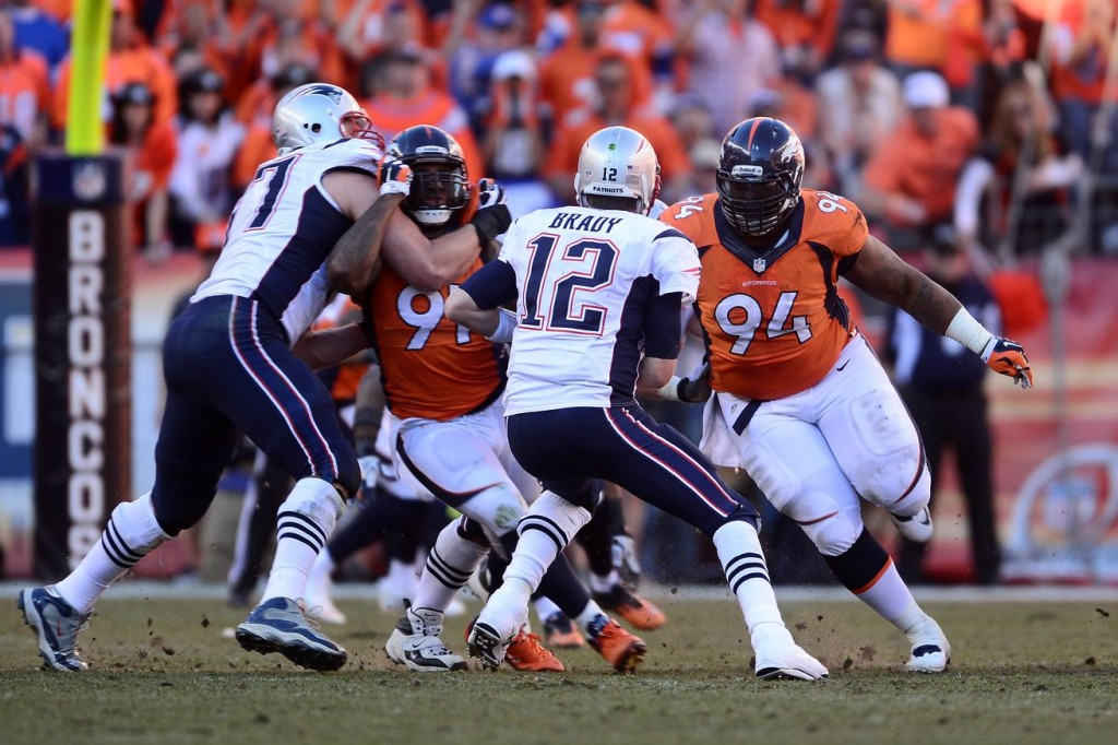 Broncos Patriots - Ron Chenoy-USA TODAY Sports