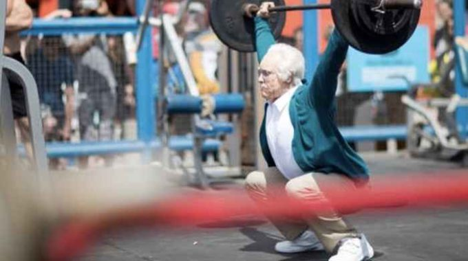 Muscle Beach Old Man