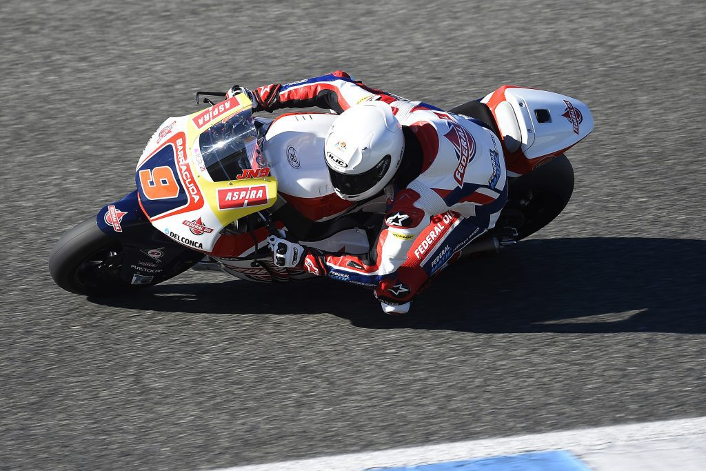 Jorge Navarro, en els primers tests de la pretemporada a Moto2
