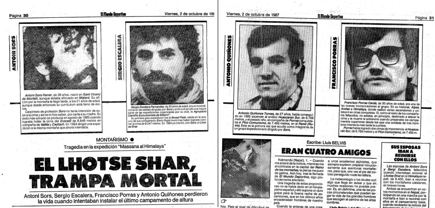 El divendres 2 d'octubre el diari Mundo Deportivo informava del tràgic accident / Hemeroteca Mundo Deportivo