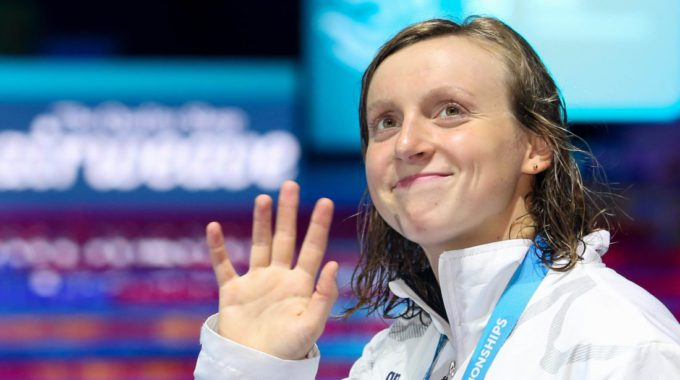 Katie Ledecky Usa Smile Wave Medal 2017 World Champs