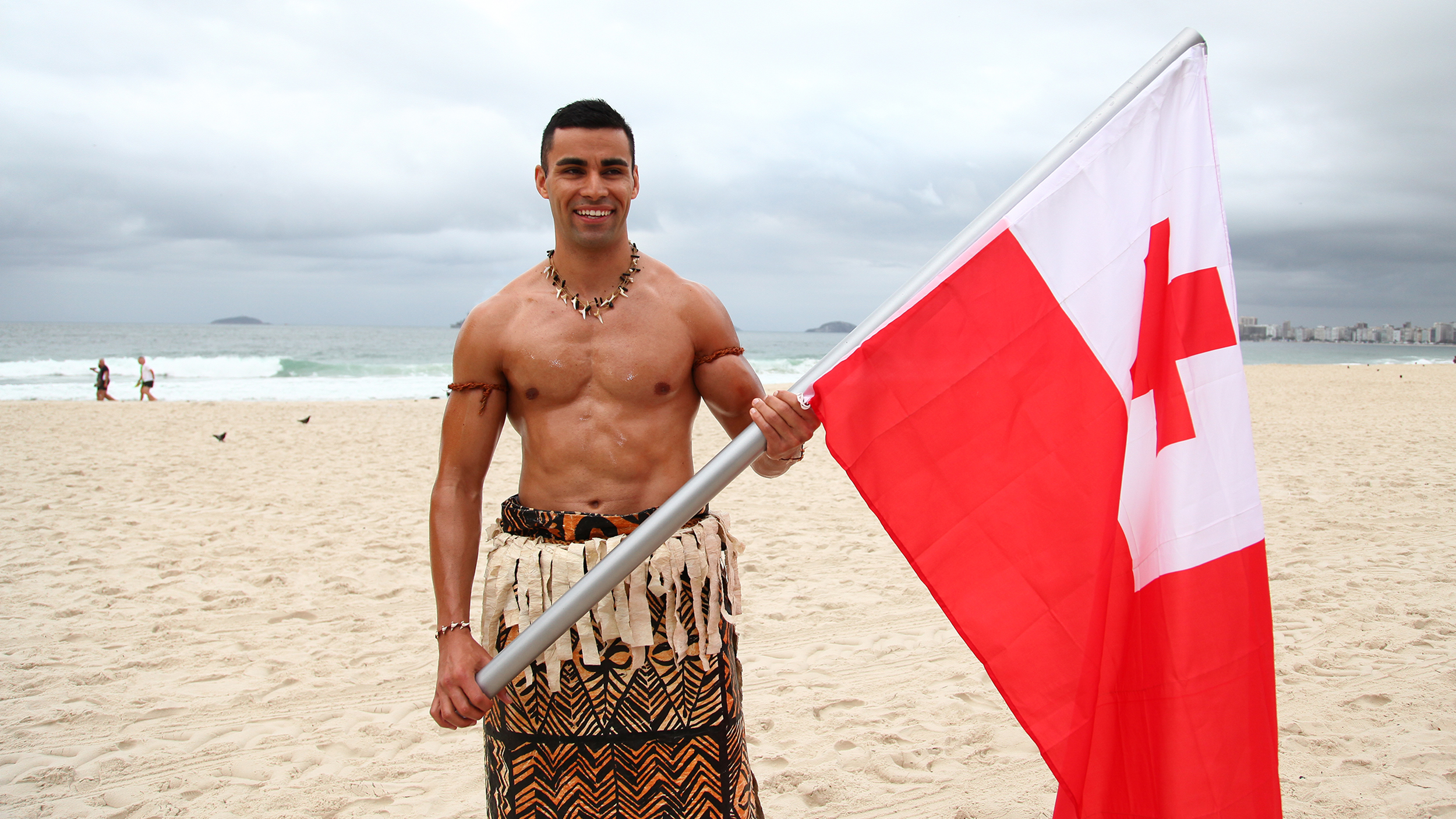 Tonga with flag