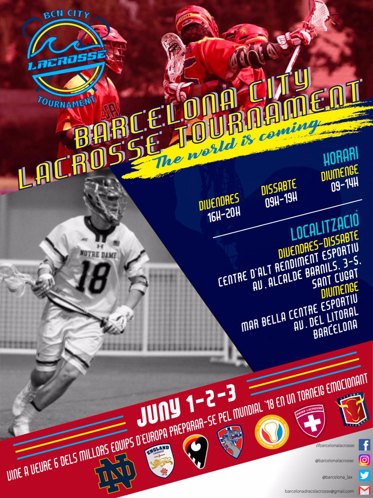 Bcn City Lacrosse Tournament 1-2-3 Juny 2018