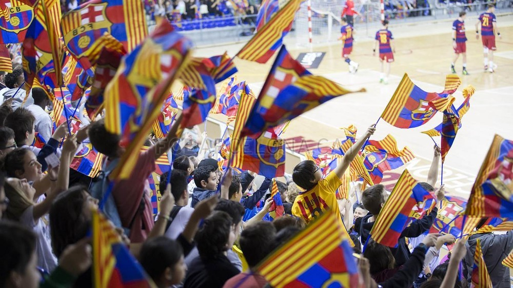 L'excepció va ser la matinal en que es va omplir Blaugrana amb més de 3.800 escolars. Foto: FC Barcelona