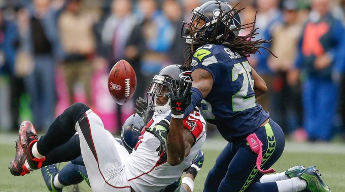 Falcons Seahawks Julio Jones Richard Sherman Pass Interference