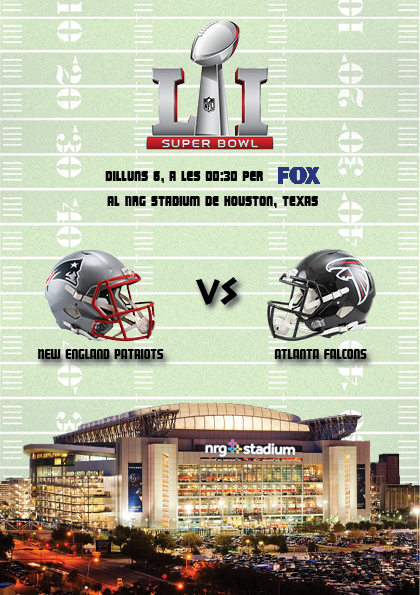 Els PAtriots i els Falcons s'enfrontaran al NRG Stadium de Houston a la Super Bowl LI