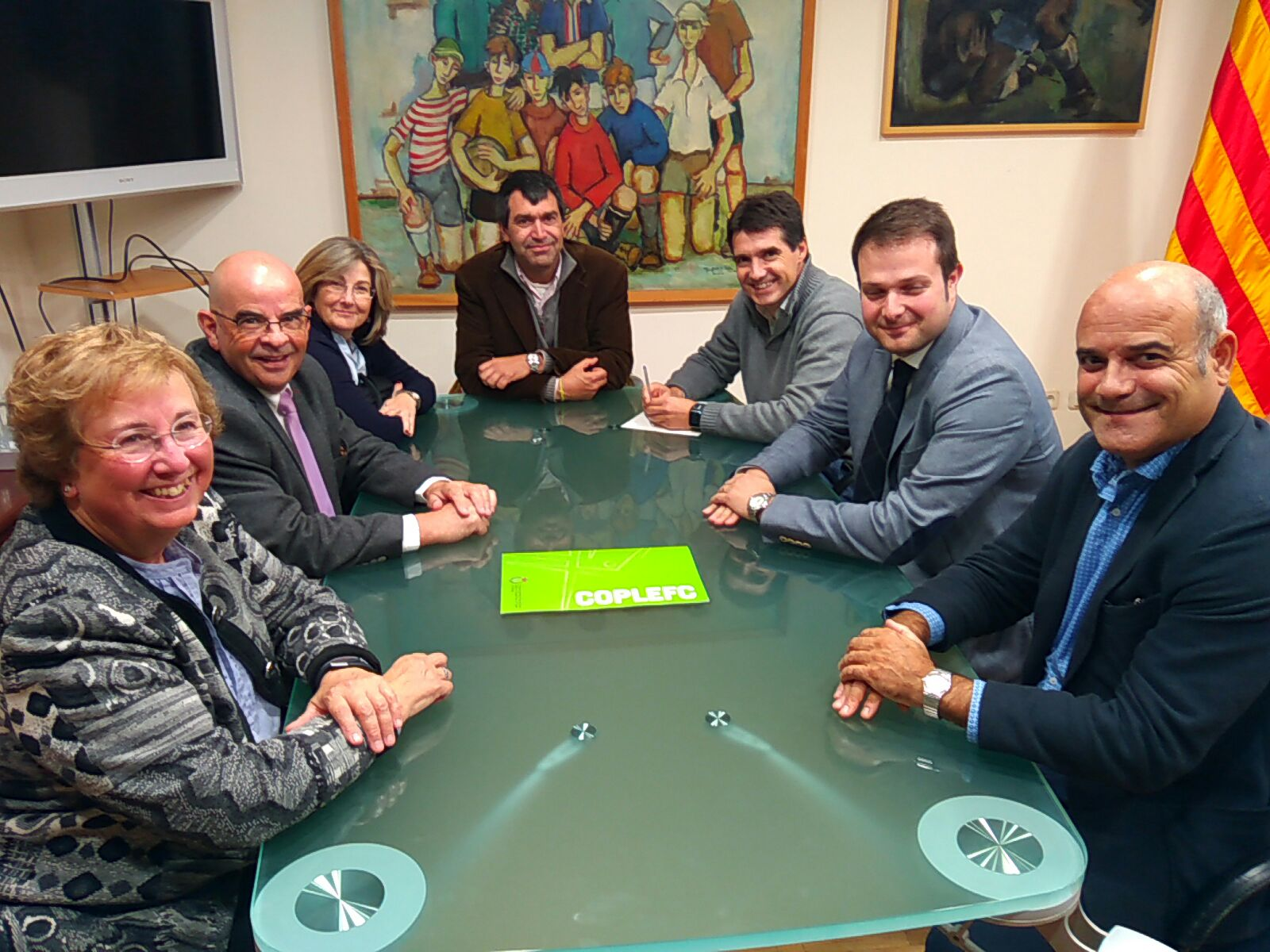 La Junta de COPLEFC, en una trobada amb el Secretari General de l'Esport el passat mes de novembre