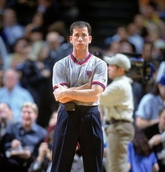6 Dec 2000: Referee Tim Donaghy stands on the court during the game between the New York Knicks and the Dallas Mavericks at the Reunion Arena in Dallas, Texas. The Mavericks defeated the Knicks 94-85. NOTE TO USER: It is expressly understood that the only rights Allsport are offering to license in this Photograph are one-time, non-exclusive editorial rights. No advertising or commercial uses of any kind may be made of Allsport photos. User acknowledges that it is aware that Allsport is an editorial sports agency and that NO RELEASES OF ANY TYPE ARE OBTAINED from the subjects contained in the photographs. Mandatory Credit: Ronald Martinez /Allsport