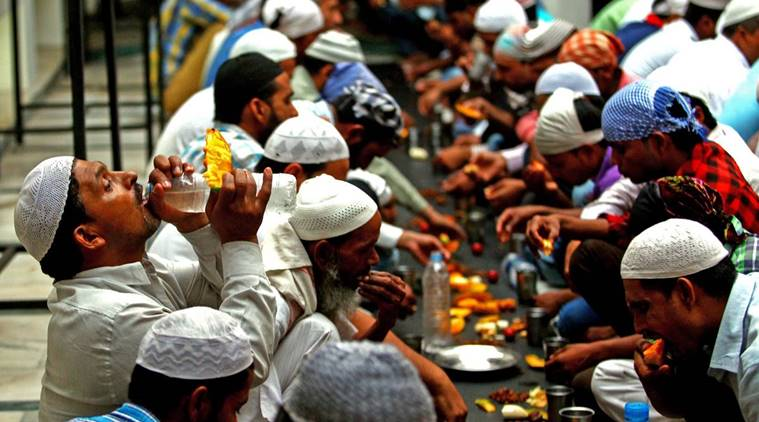 Muslims end their daily fast to observe Iftar on first day of Ramzaan at Jama Masjid in Sector 20 of Chandigarh on Friday, June 19 2015. Express photo by Sumit Malhotra