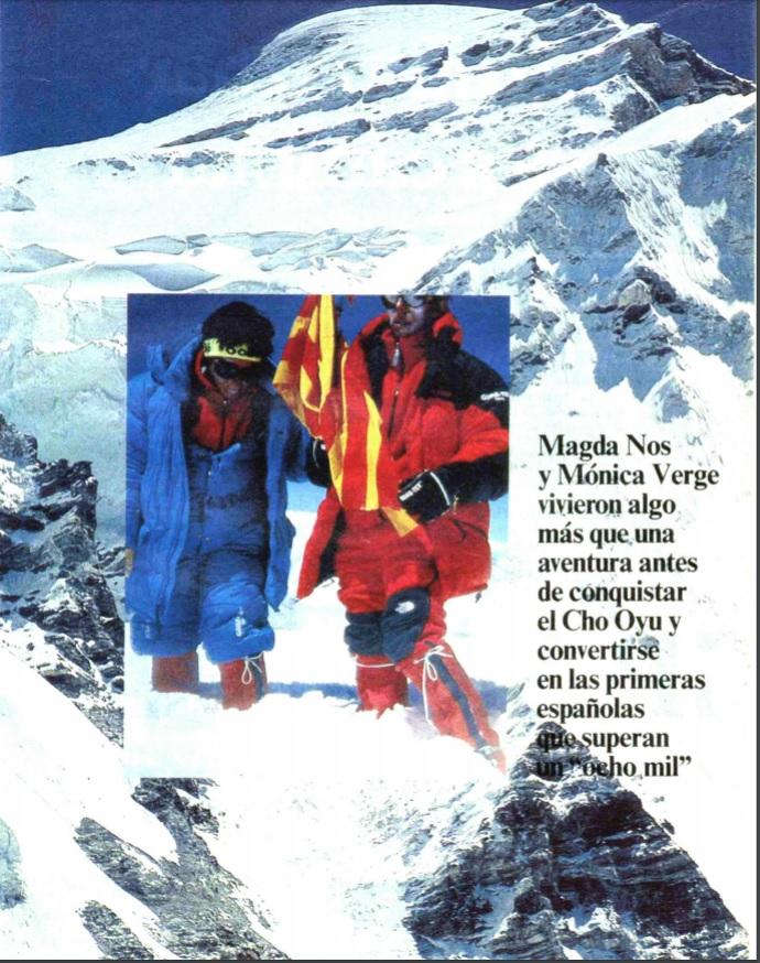 Pàgina de color a Mundo Deportivo celebrant la fita de les alpinistes el 15/10/1989