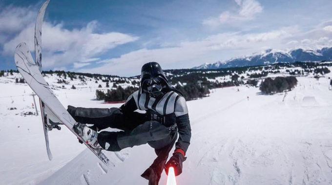 La Guerra De Les Galàxies, A La Neu Recuperem Un Vídeo De 2017 On L'esquí és El Protagonista D'Star Wars