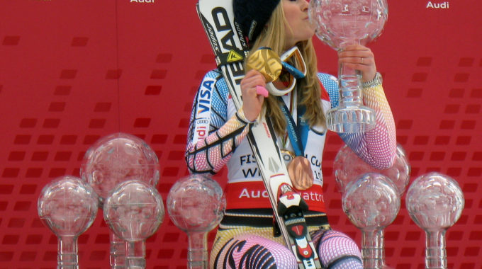 Lindsey Vonn With 8 Crystal Globes