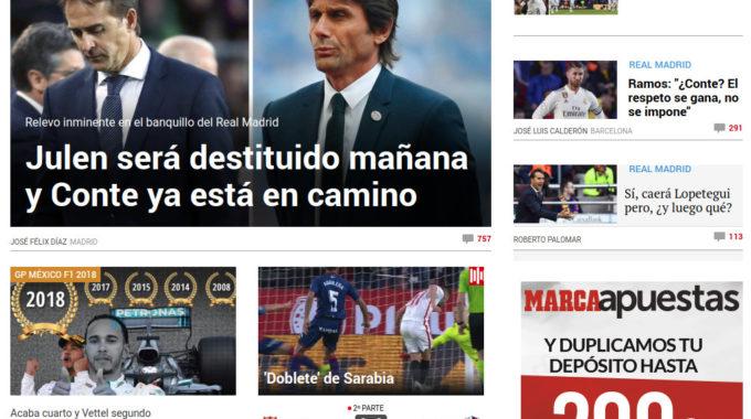 Gènere I Diari Marca – 28/10/2018 Les 150 Primeres Notícies De La Seva Portada Digital No Inclouen Dones Esportistes