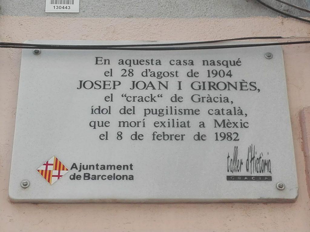 Placa a Josep Gironès a la seva casa natal. Jaume Zamora.