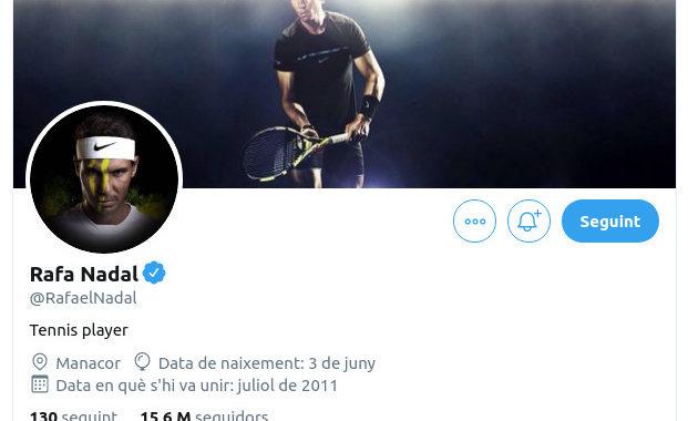 Rafa Nadal Twitter 2020